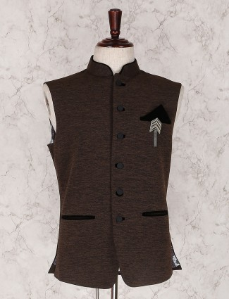 Chocolate brown party waistcoat
