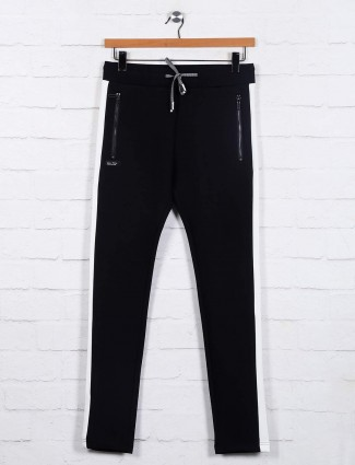 Chopstick black mens cotton track pant