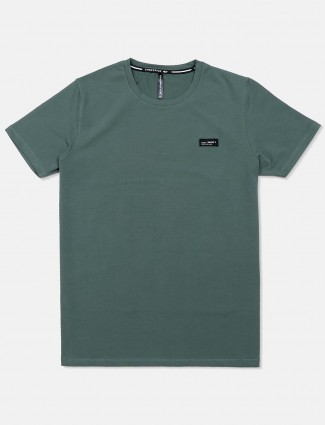 Chopstick casual solid green t-shirt