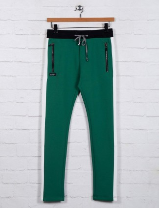 Chopstick green night track pant