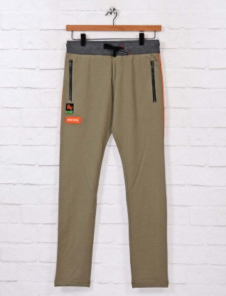 Chopstick olive cotton track pant
