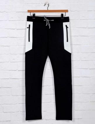 Chopstick presented black cotton track pant