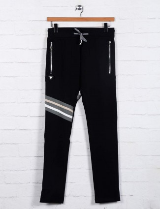 Chopstick presented black track pant