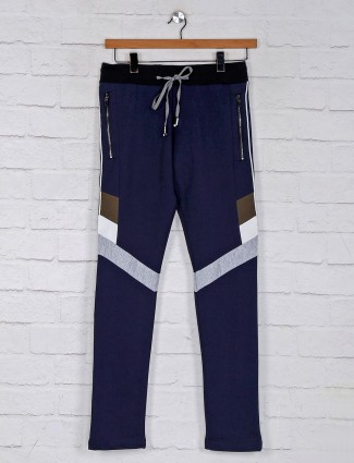 Chopstick presented navy track pant