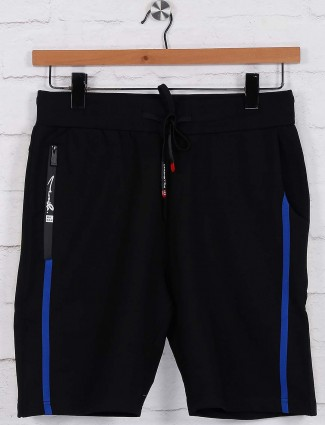Chopstick solid black colored shorts