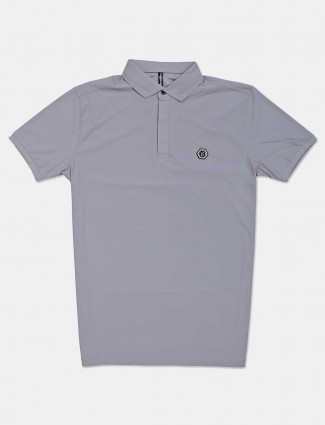 Chopstick solid grey polo t-shirt