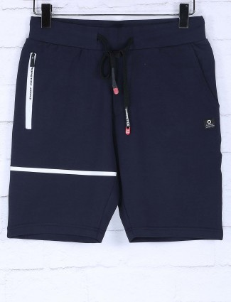 Chopstick solid navy colored shorts