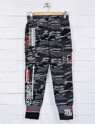 Cityboy camouflage printed grey cotton payjama