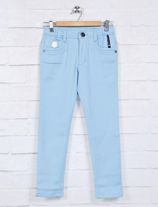Cityboy light blue solid scoop pocket jeans
