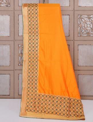 Classic orange wedding saree