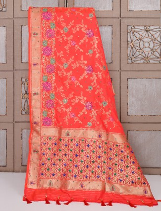 Classic wedding wear red color saree