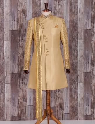Classy golden silk indo western