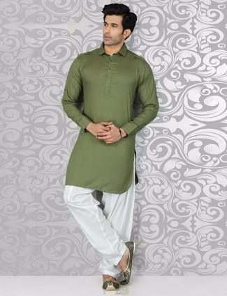 Classy green festive wear pathani suit