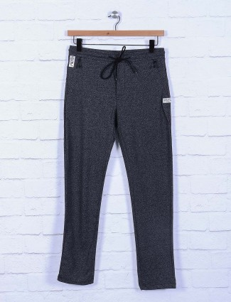 Cookyss black colored mens track pant