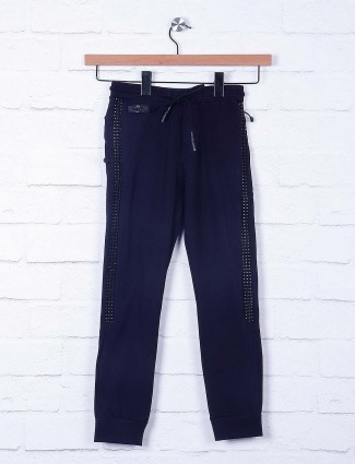 Cookyss boys navy hue cotton payjama