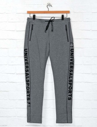 Cookyss grey slant poacket cotton track pant
