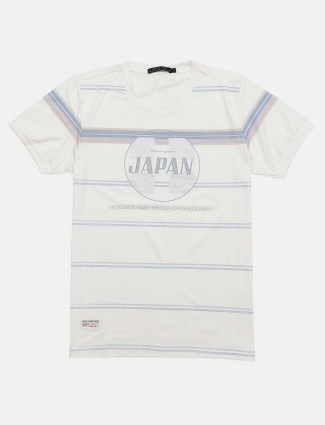 Cookyss presented white stripe t-shirt