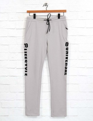 Cookyss printed beige comfortable track pant