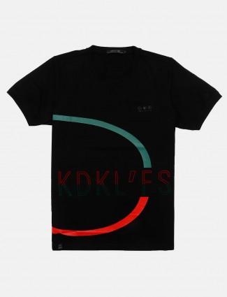 Cookyss printed black slim fit t-shirt