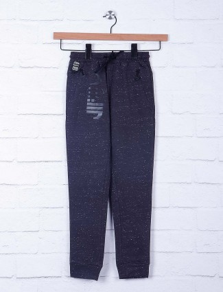 Cookyss printed dark grey cotton payjama