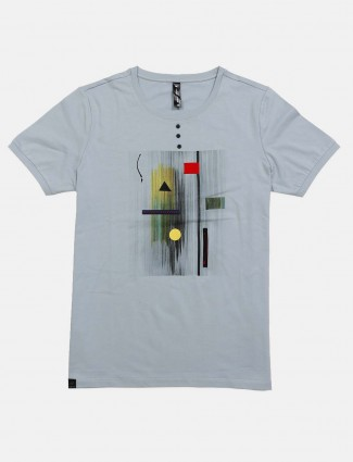 Cookyss printed grey casual wear t-shirt