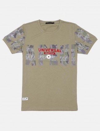 Cookyss printed olive cotton t-shirt