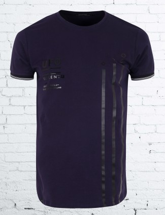 Cookyss purple color casual t-shirt