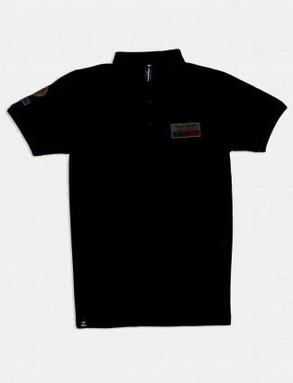 Cookyss solid black slim fit t-shirt