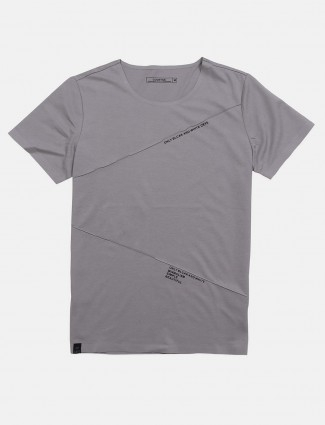 Cookyss solid grey cotton t-shirt