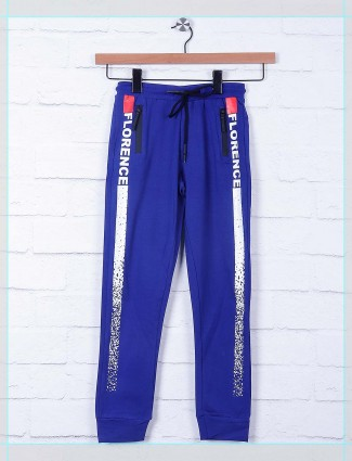 Cookyss solid royal blue cotton payjama
