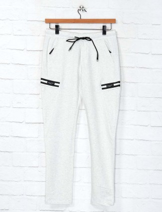 Cookyss white cotton printed track pant