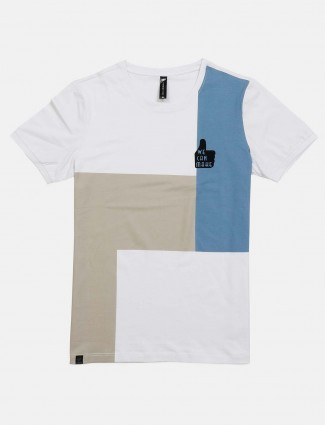 Cookyss white solid latest t-shirt