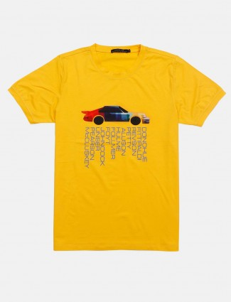 Cookyss yellow printed t-shirt