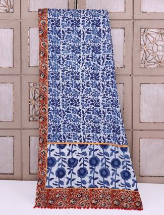 Cotton blue saree