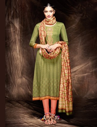 Cotton classy green salwar suit