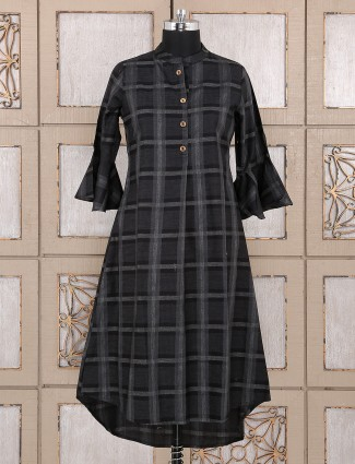 Cotton fabric black color kurti