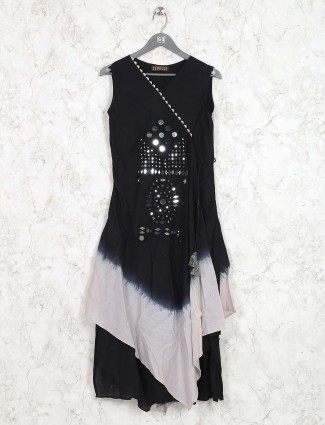 Cotton fabric black colored kurti