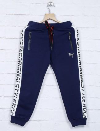 Cotton fabric navy solid payjama
