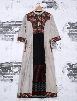 Cotton grey color kurti for festive
