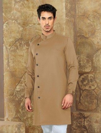 Cotton khaki short pathani