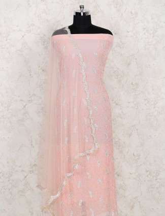 Cotton peach colored dress mateerial