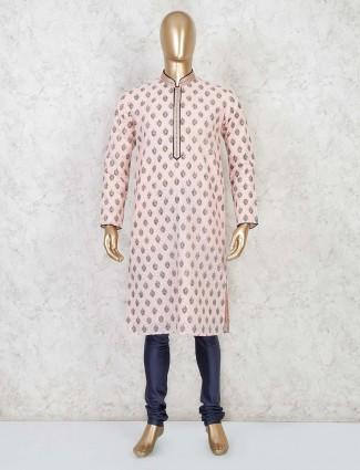 Cotton peachfull sleeve kurta suit