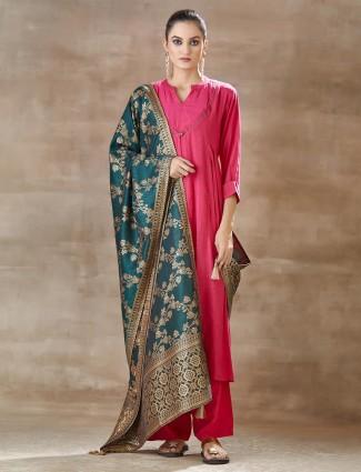 Cotton Pink Festivals Salwar Suit