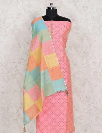 Cotton punjabi pink dress material