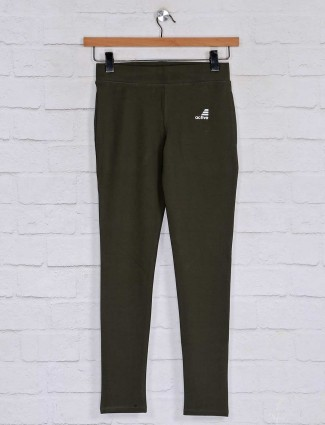 Cotton pyjama pant in olive