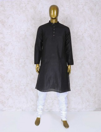 Cotton simple black kurta suit