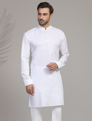 Cotton white kurta for mens