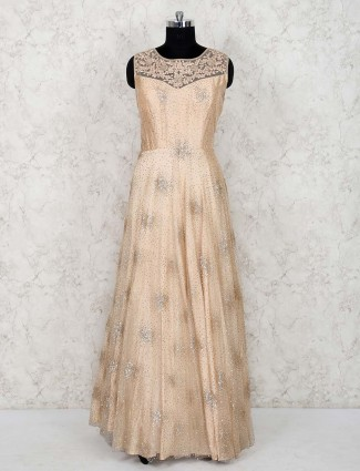 Cream color gown in net
