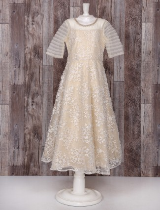 Cream color net gown