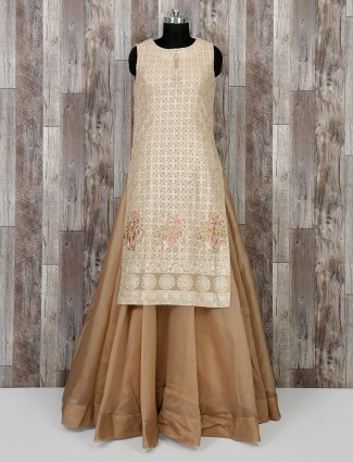 Cream color salwar suit for wedding wear